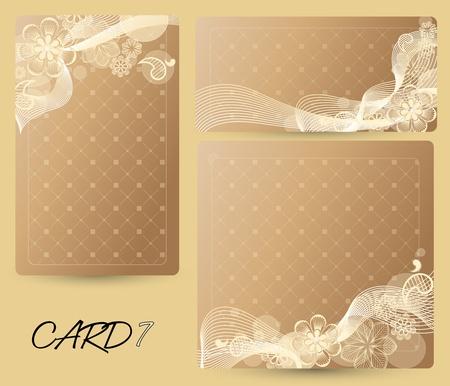 invitacion fiesta: tarjeta con un fondo floral de distintos tama�os
