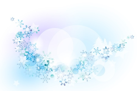 snow in the background space for your text Vector