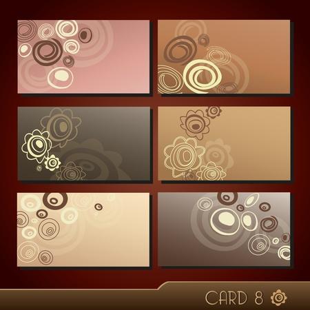 Набор красочных визитных карточек
