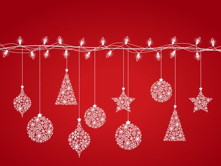 Background of Christmas lights  Vector