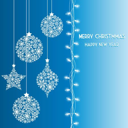 Background of Christmas lights Stock Vector - 10953780