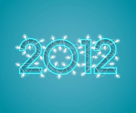 Background in 2012 with decorative lights Vector