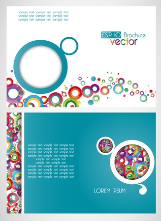 draft of the brochure, vector background Vector