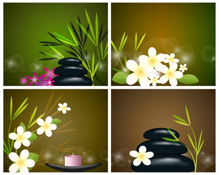Set behind the spa still life Vector