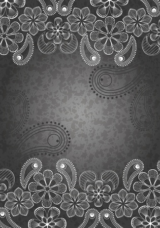 decorative background, black and white 1 Vector