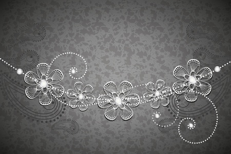 decorative background, black and white 2 Vector