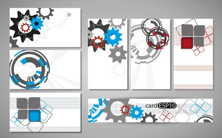 business cards with white background