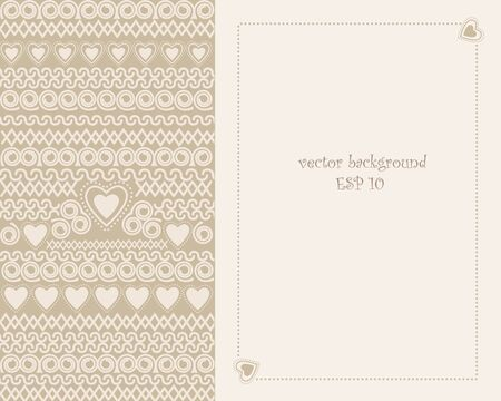 marriage invitation: background with space for text decoration