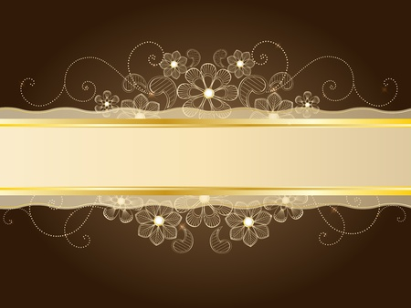 gold lace Stock Vector - 11661052