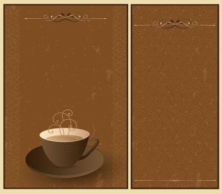Set coffee background Stock Vector - 11661059