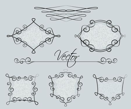 Set of decorative frames Vector