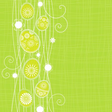 Easter background with spring motif Vector