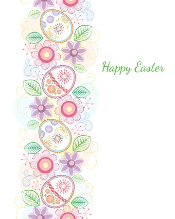 Easter color theme on white background Vector