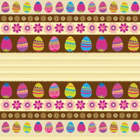 gaily colored background with Easter eggs