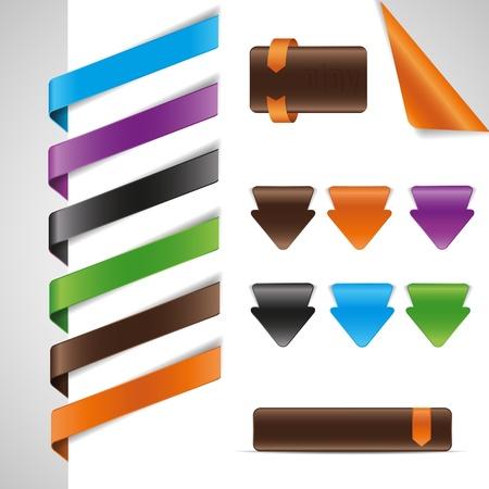 set tags, labels,web design elements Stock Vector - 12476856