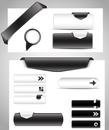 office buttons: black and white set for your site