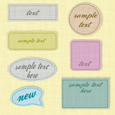 labels and fabric labels with space for text Stock Vector - 12476859