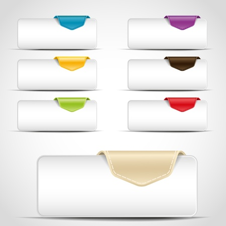 buttons with different color tab Ilustracja