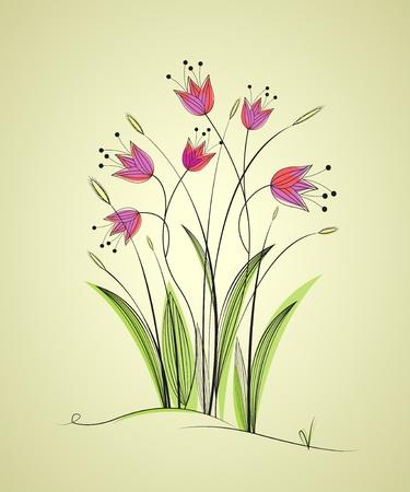 de fondo con flores del prado, jardín