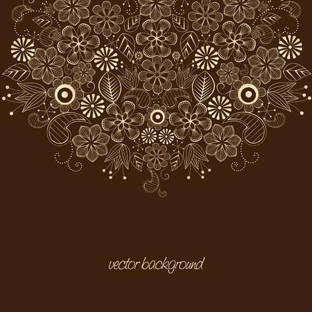 Красота цветочный рисунок, место для текста