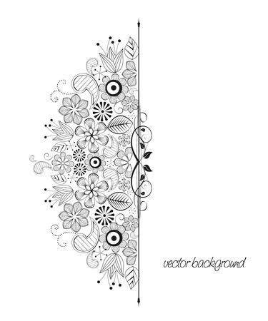 elegance:  floral decoration on white background