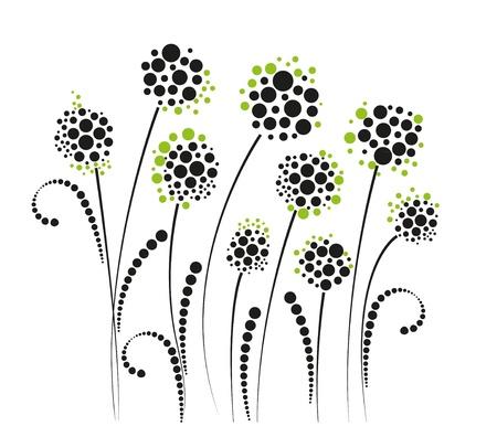 цветы на белом фоне Иллюстрация