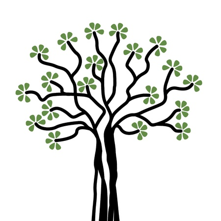 ornamental tree on a white background Stock Vector - 13126473