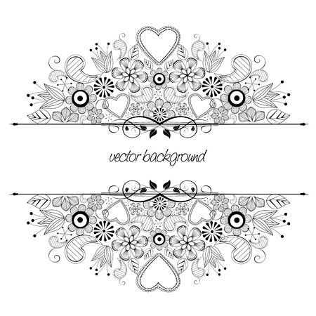 floral decoration on white background