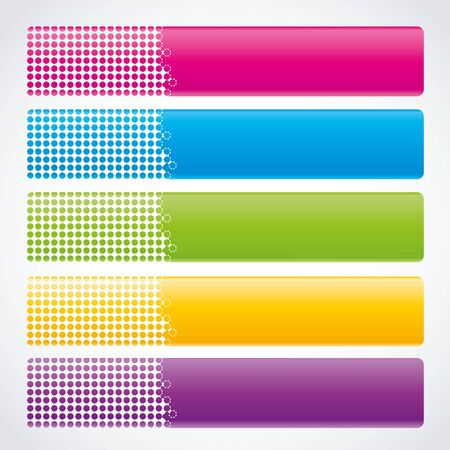 header image: set colorful banners with place for text