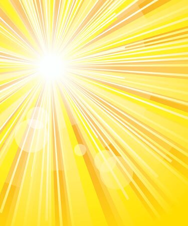 background of the solar rays, vector illustration Vector