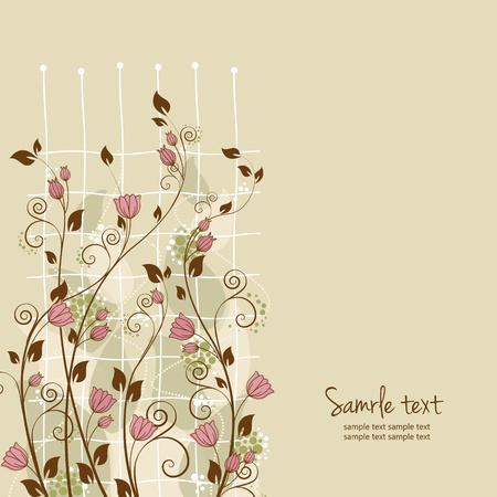 beautiful flower decoration with place for text Vector