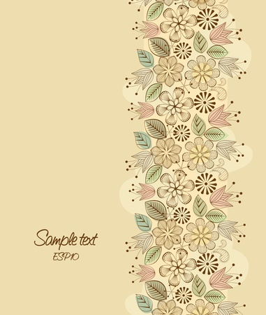 floral backgrounds: color decoration of flowers in the background Illustration
