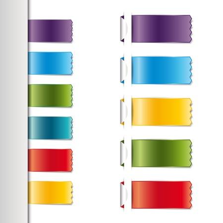 Ленты набор, на белом фоне Иллюстрация