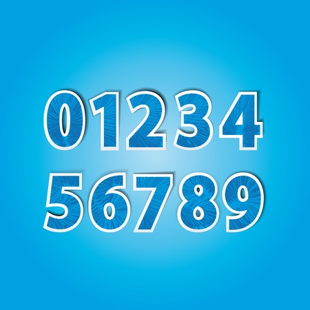 numbers: stickers with numbers from 0 to 9 in the color blue