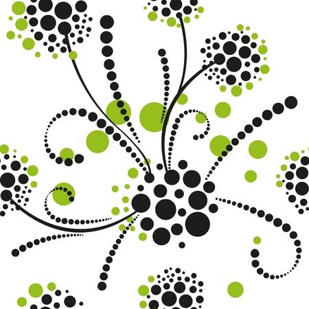 sketch pattern: Resumen patr�n transparente con hojas y flores Vectores