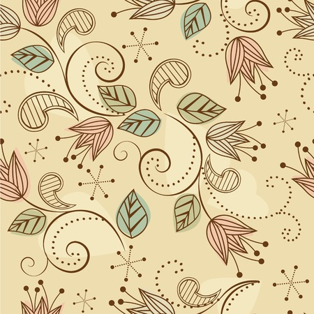 seamless pattern with colorful flowers Illustration