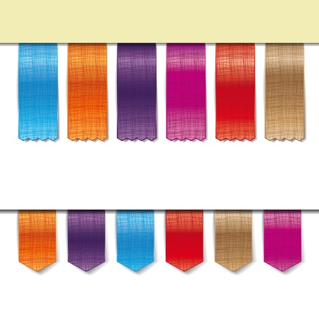 fabric ribbons in different colors Stock Vector - 13591293