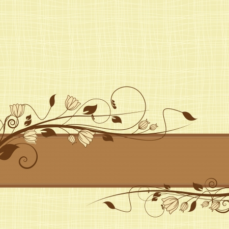wedding backdrop: Illustration with ornament for greeting card