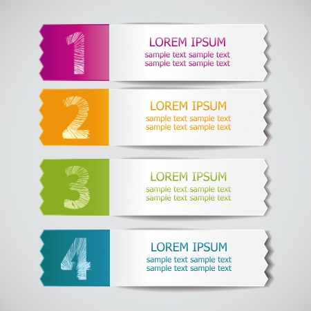 set of colored ribbons for product choice or versions 3 Vector