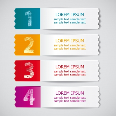 best quality: set of colored ribbons for product choice or versions 2
