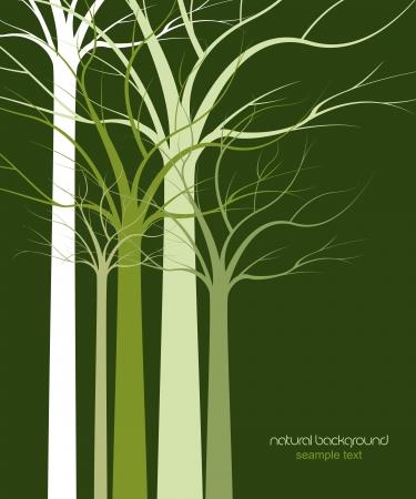 естественный фон деревья без листьев Иллюстрация