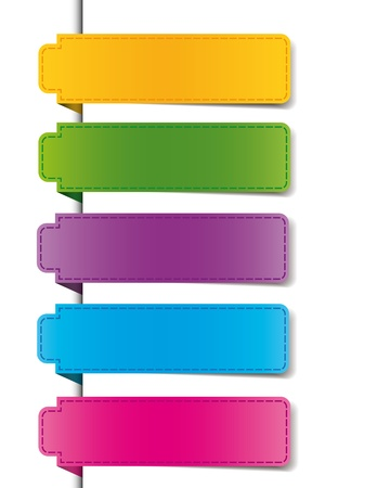 color bookmarks for the web business or product Vector