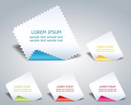 pesta�as: serrado papel para la publicidad de productos o negocio Vectores