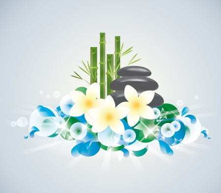 abstract background of Beauty of the spa Vector