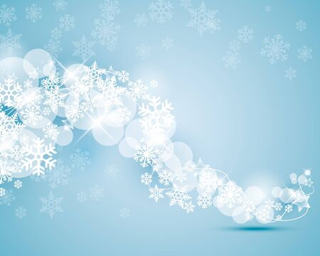 winter background with snowflakes swirling Illustration