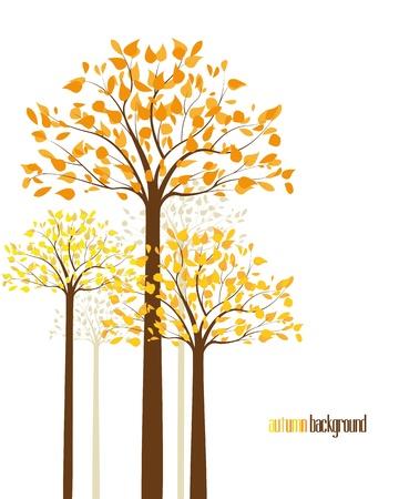 абстрактный фон с осени деревья Иллюстрация
