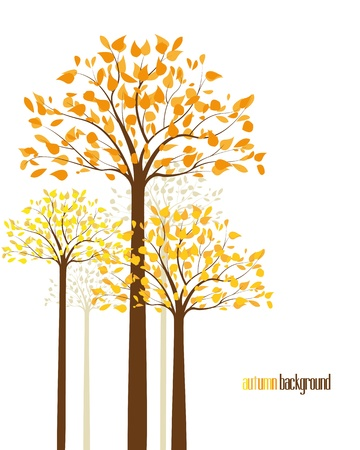 abstract background with autumn trees Vector