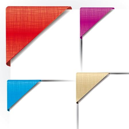 Set mit verschiedenen bunten Ecke stoffbänder