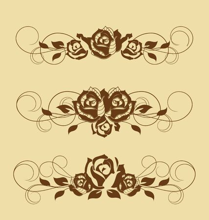 roses design elements and page decoration Vector