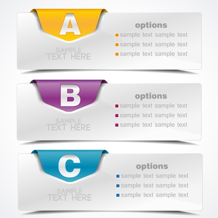 banner on the product description and more options Vector